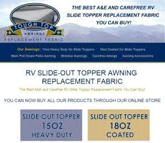 Rv Slide Out Awning Reviews Easy Rv Mod U003e Slide Topper Replacement With Tough Top Toppers