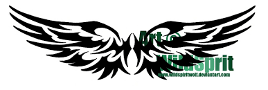 feminine tribal wings tattoos