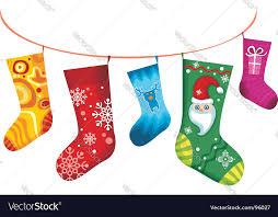 christmas stocking royalty free vector image vectorstock