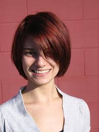 short layered bob hairstyles with bangs women medium haircut