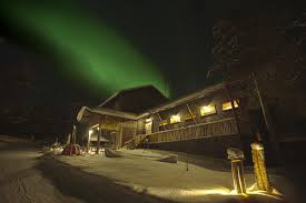 christmas in finnish lapland and the northern lights winter holiday