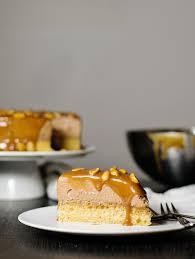 mocha caramel u0026 peanuts mousse cake