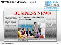 news on newspaper layouts style design 1 powerpoint presentation temp u2026