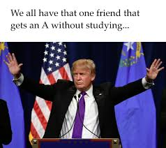 Studying Memes - donald trump can be president without studying memes grade