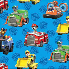 david textiles paw patrol rescue cars 44