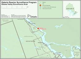 Map Of Ottawa Map 5 Ottawa Valley Surveillance Area Nuclear Reactor