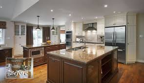 nice small open concept kitchen dining living room 1024x768