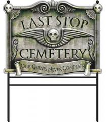last stop cemetery sign by amscan 190112 karnival costumes