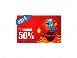 discount gift card abstract diwali discount gift card stock vector rioillustrator