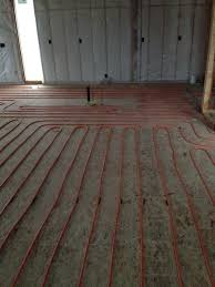 concrete a plywood subfloor with 16 on center floor joists