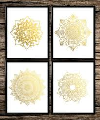 Gold Wall Decor by Wall Designs Gold Wall Circle Design Elements In Shiny