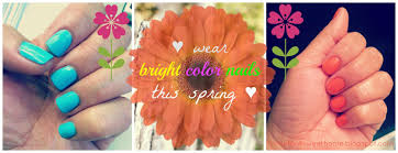 home for4 sweet home wearing spring bright color nails