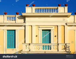 old neoclassical house ionion islands complex stock photo 82653022