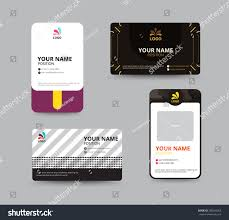 business card template name card design stock vector 288504053