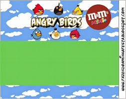 angry birds with clouds free printable candy bar labels oh my
