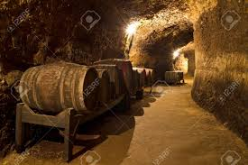 Wine Cellar Basement An Old Wine Cellar With Oak Barrels Stock Photo Picture And