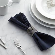 crate and barrel napkins angle napkin ring crate and barrel napkin rings chevron