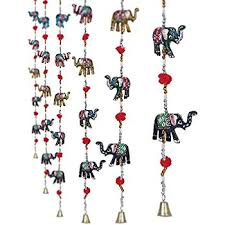 Amazoncom Indian Traditional Five Elephant Hanging Layer Door - Indian wall hanging designs