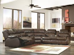 3 Piece Reclining Sectional Sofa by Mollifield Durablend Cafe 3 Pc Reclining Sectional