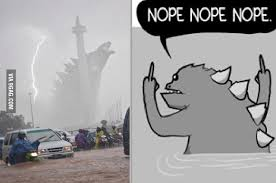 Godzilla Nope Meme - at first glance i thought he was doing the godzilla nope comic 9gag