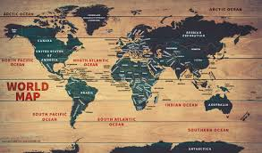 buy world wood map poster