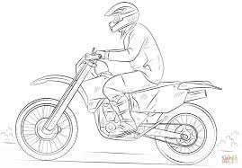 Dirt Bike Coloring Free Printable Coloring Pages