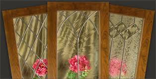Custom Cabinet Doors Glass Leaded Glass For Kitchen Cabinet Doors Walzcraft