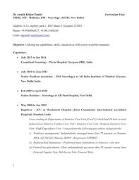 Curriculum Vitae Medical Doctor Dr Awadh Kishor Pandit Curriculum Vitae Mbbs Md