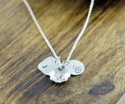 Children S Name Necklace Baby Footprint Necklace New Mom Gift Sterling Silver Charm