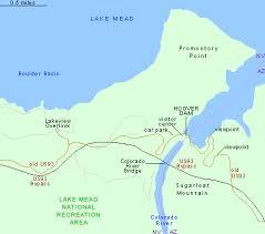 lake mead map hoover dam arizona nevada lake mead national recreation area