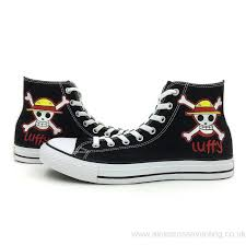 One Piece Flags United Kingdom M5 5 W7 5 One Piece All Star Converse Anime Shoes