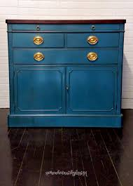 somewhat quirky refreshing a sideboard with aubusson blue chalk paint