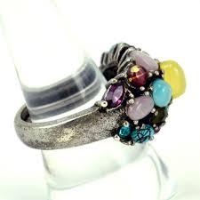 color stones rings images Ulti stone fashion ring cat 39 s eye rhinestones silver tone spring jpg