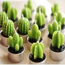 wholesale sale green succulent christmas candles succulent