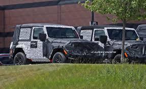 jl jeep quartet of 2018 jeep wrangler jl 3 and 5 door prototypes spied