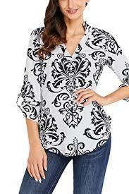 print blouses sailed print v neck casual cuffed sleeves shirts