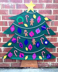 diy felt christmas tree 25 winter and christmas crafts for kids