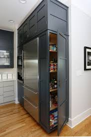 how to build a cabinet around a refrigerator built in pantry in transitional kitchen hgtv