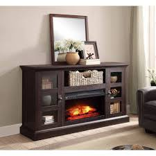 whalen brown cherry tv stand whalen media fireplace console for tvs up to 70