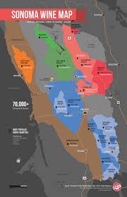 sonoma california map sonoma wine map poster wine folly