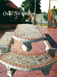 Concrete Patio Tables And Benches Concrete Patio Table Cement Patio Table Or Best Of Tile