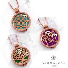 round plate necklace images Rose gold premium 30mm aromatherapy essential oil diffuser jpg