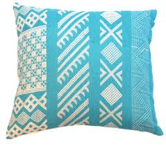 Kathryn M Ireland Tangier Teal Pillow Traditional Mid Century Modern Pillows