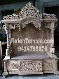 Marble Temple Home Decoration Wooden Pooja Mandir Wooden Temple Mandir Manufacturer Ratan