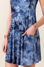 blue krystal tie dye shift dress francesca u0027s