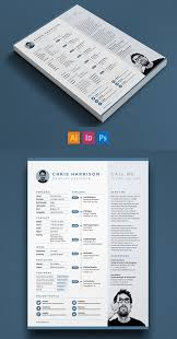 single page resume template free modern resume templates psd mockups freebies graphic