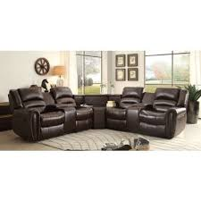 palmyra modular reclining sectional w table wedge sectionals