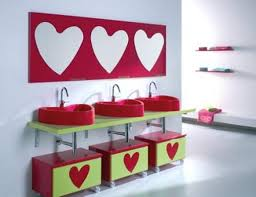 Heart Bathroom Accessories Colorful Kids Bathrooms Designer Furniture Accessories And
