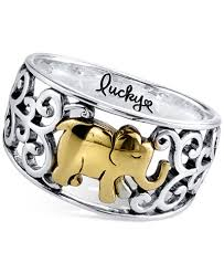 sterling rings images Lucky elephant ring in sterling silver and gold flashed sterling tif