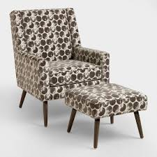 Patterned Armchair Pacific Blue Elliott Wingback Chair World Market